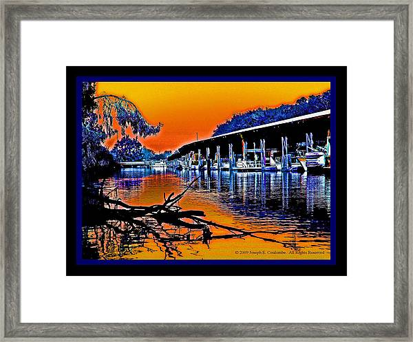 A Delta Sunset  Framed Print