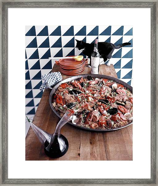 A Dish Of Paella Framed Print