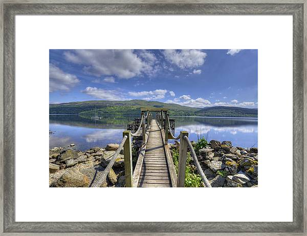 A Dock Out To Loch Tay Framed Print