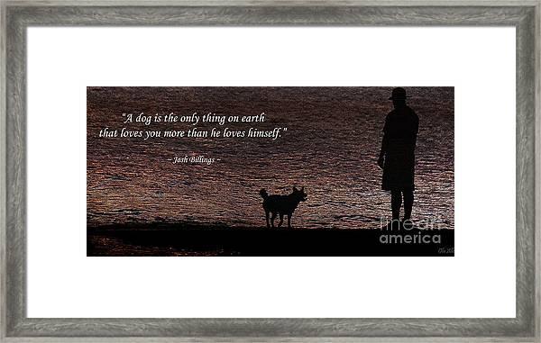 A Dog Framed Print