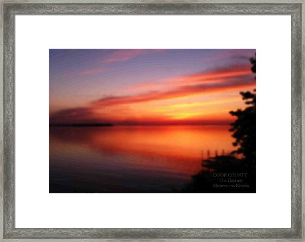 A Dreamy Sunset On The Midwestern Riviera Framed Print