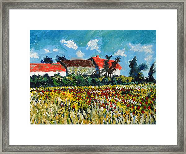 A Field In France Framed Print