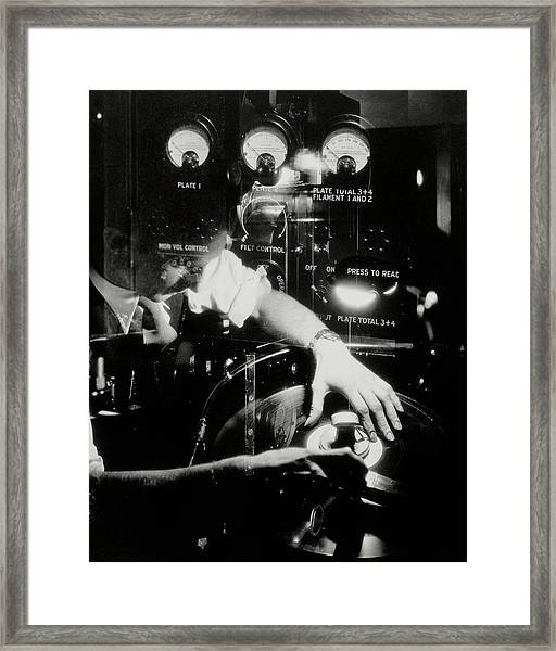 A Film Projectionist Framed Print