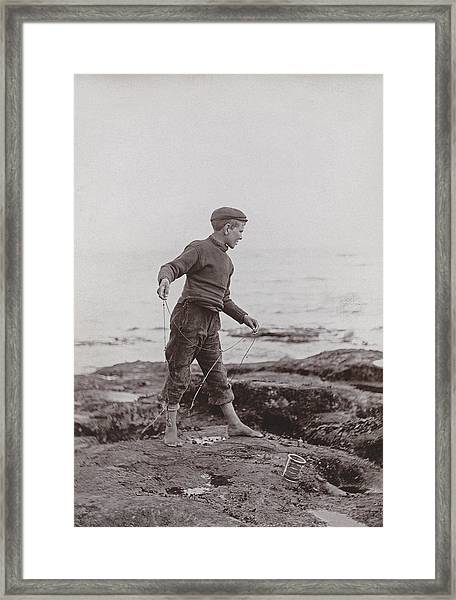 A Fisher Laddie Framed Print