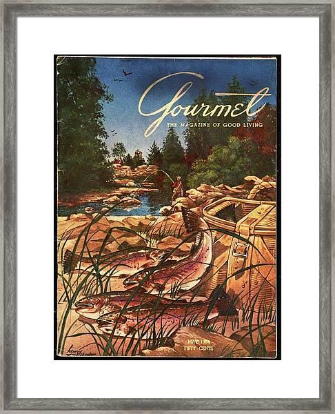 A Fishing Scene Framed Print