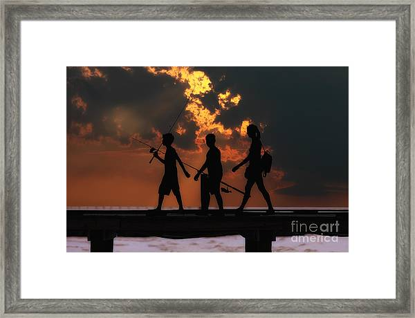 A Fishing We Will Go Framed Print