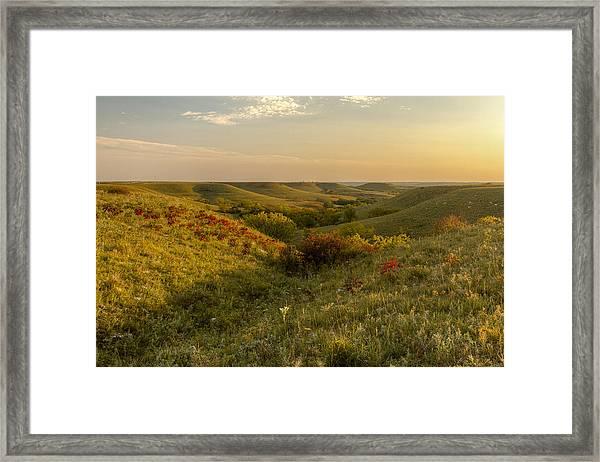 A Flint Hills View Framed Print