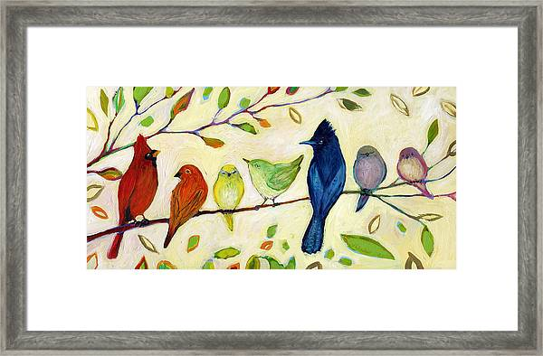 A Flock Of Many Colors Framed Print