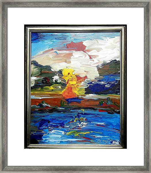 Framed Print featuring the painting A Fluid Landscape by Ray Khalife