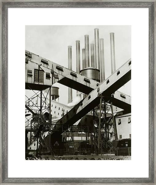 A Ford Automobile Factory Framed Print