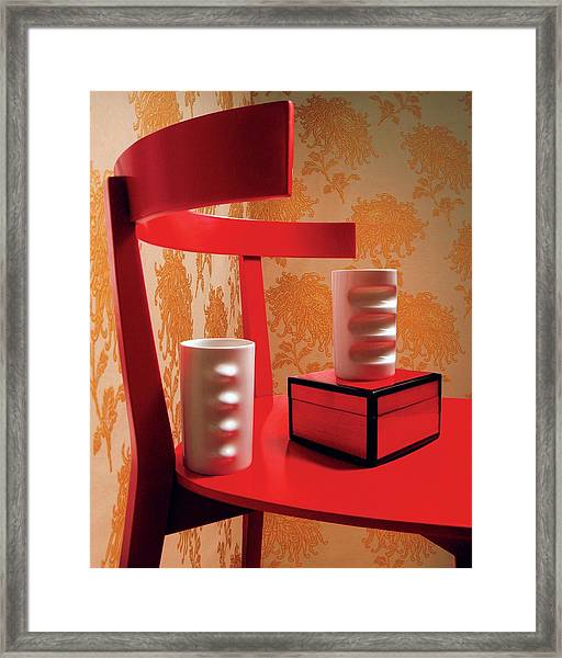 A Fratelli Tominaga Chair And Hakusan Fancy Cups Framed Print by Danny Evans