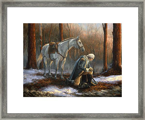 A General Before His King Framed Print