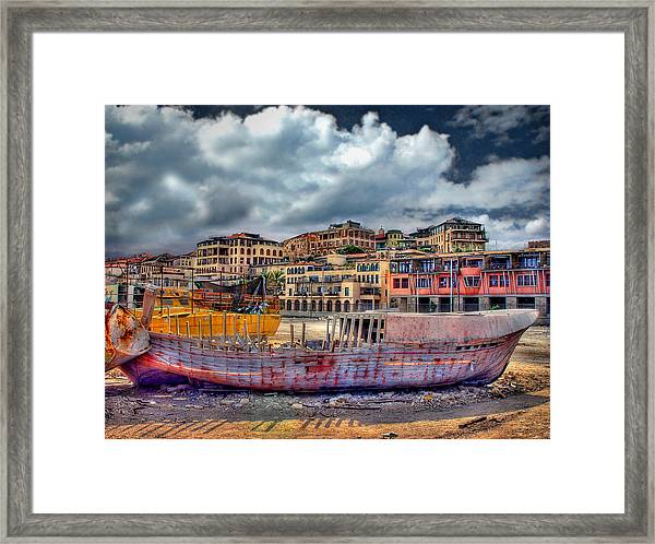 A Genesis Sunrise Over The Old City Framed Print