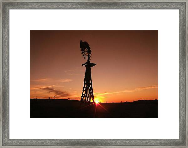 A Gentle Breeze At Sunset Framed Print