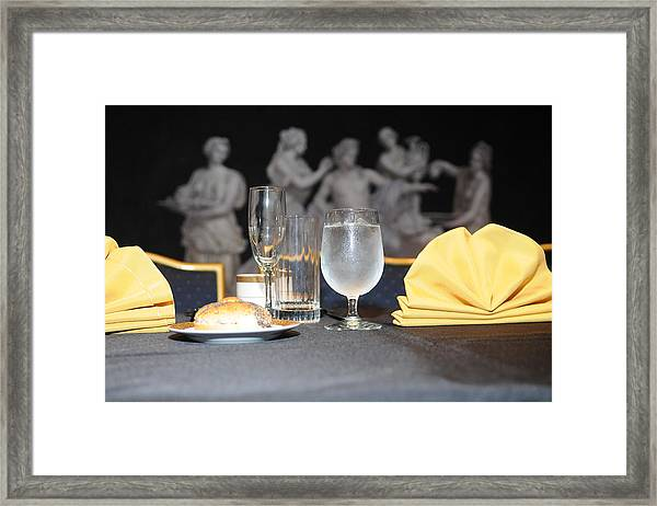 A Glass Of Ice Water Framed Print