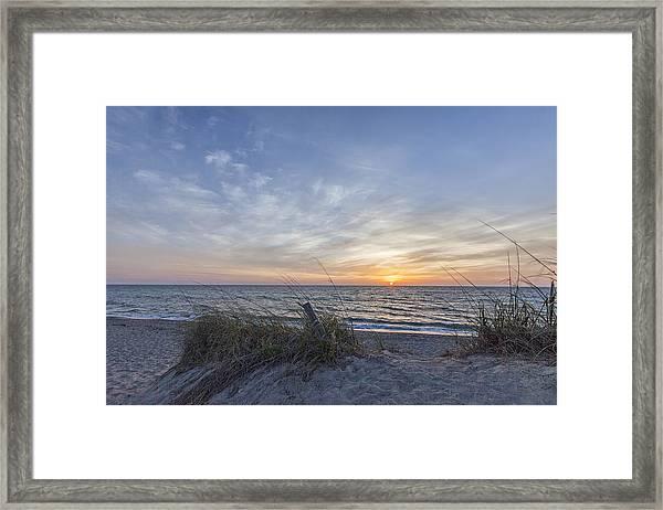 A Glass Of Sunrise Framed Print