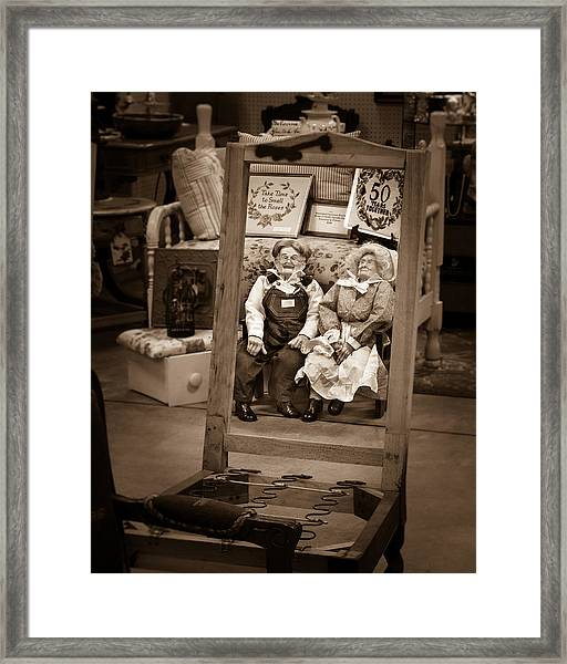 A Glimpse Of Togetherness Framed Print
