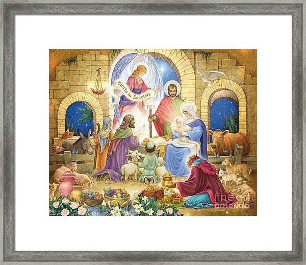 A Glorious Nativity Framed Print