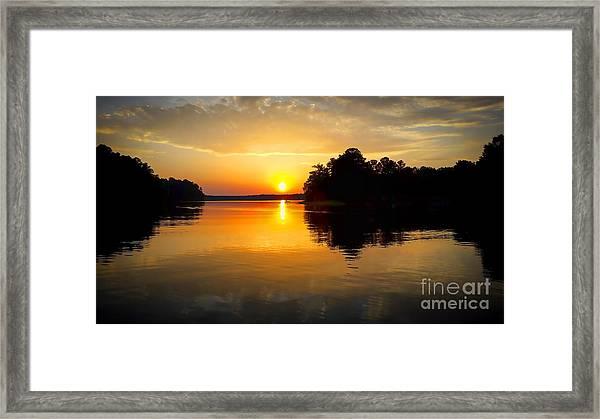 A Golden Moment Framed Print