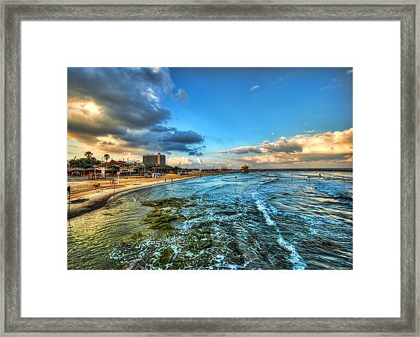 a good morning from Hilton's beach Framed Print