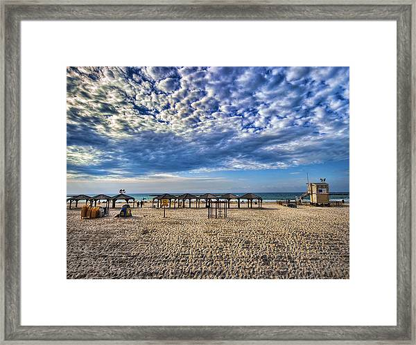 a good morning from Jerusalem beach  Framed Print