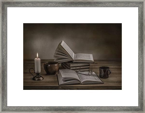 A Good Read Framed Print by Margareth Perfoncio