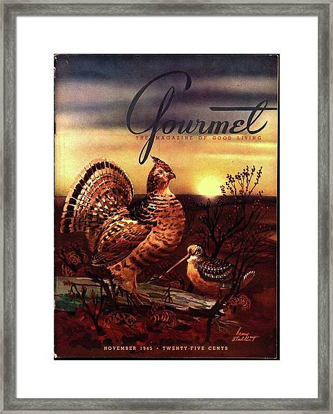 A Gourmet Cover Of A Turkey Framed Print