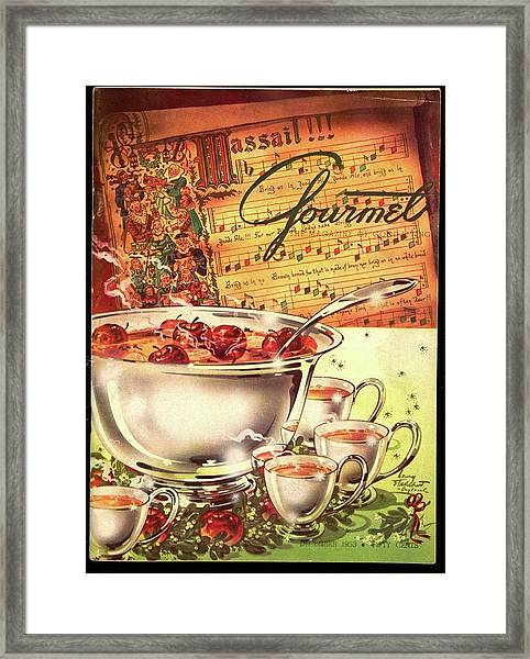 A Gourmet Cover Of Apples Framed Print