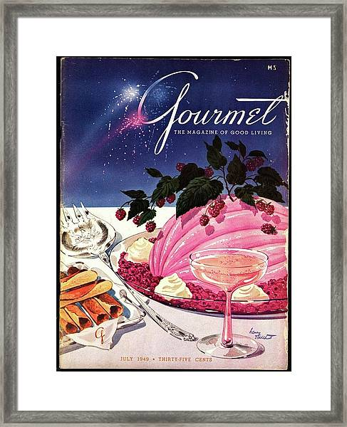 A Gourmet Cover Of Mousse Framed Print