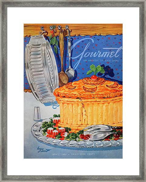 A Gourmet Cover Of Pate En Croute Framed Print