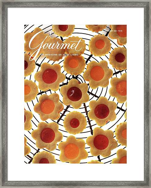 A Gourmet Cover Of Sunny Savaroffs Cookies Framed Print