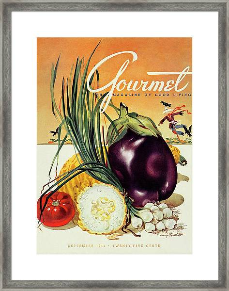 A Gourmet Cover Of Vegetables Framed Print
