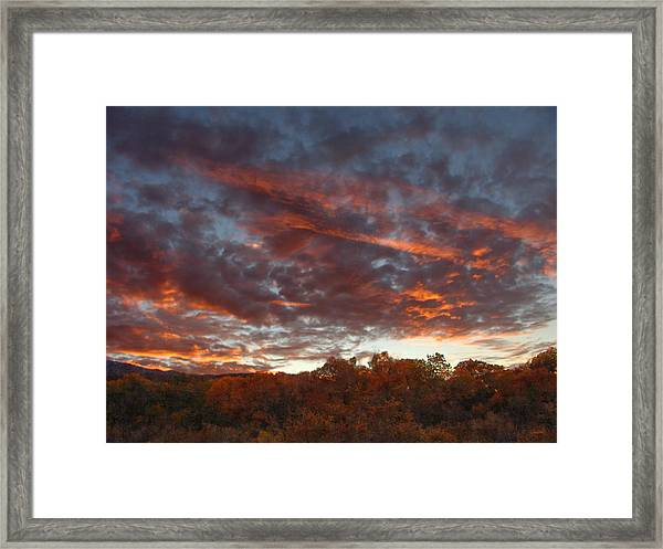A Grand Sunset 2 Framed Print