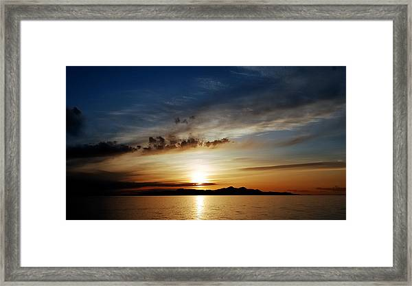 A Great Salt Lake Sunset Framed Print