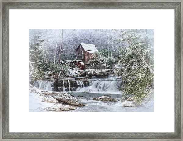 A Gristmill Christmas Framed Print