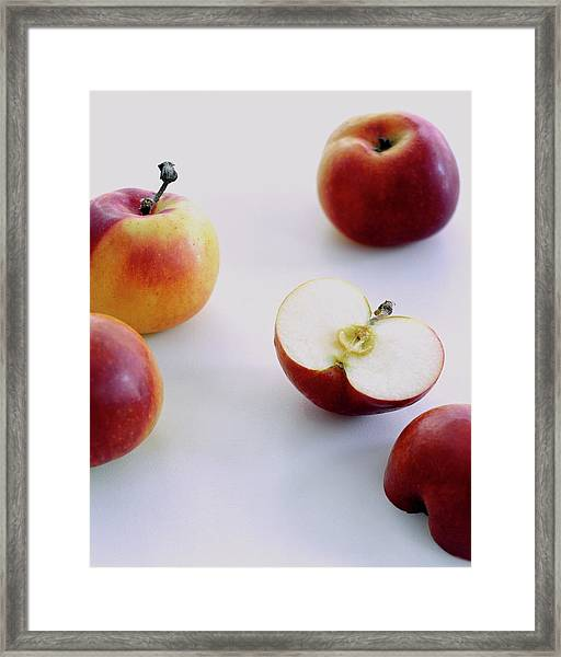 A Group Of Apples Framed Print