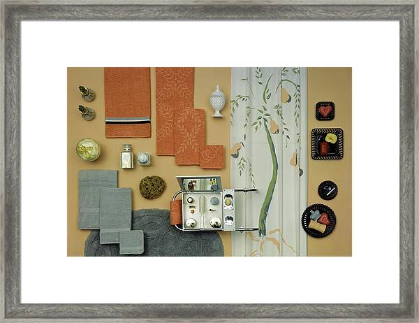 A Group Of Household Objects Framed Print