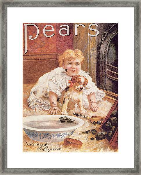 A Guilty Smile Before The Thrashing, From The Pears Annual Framed Print