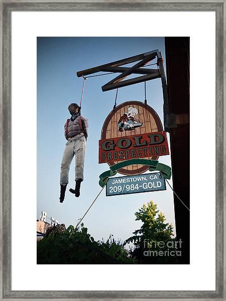 A Hanged Man In Jamestown Framed Print