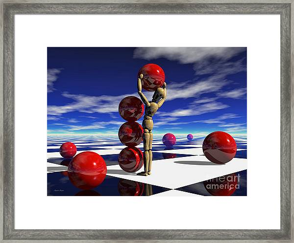 A Hard Day's 'work Framed Print by Sandra Bauser Digital Art