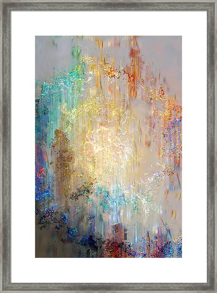 A Heart So Big - Abstract Art Framed Print