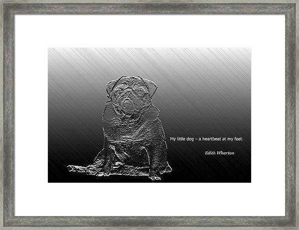 A Heartbeat At My Feet Framed Print