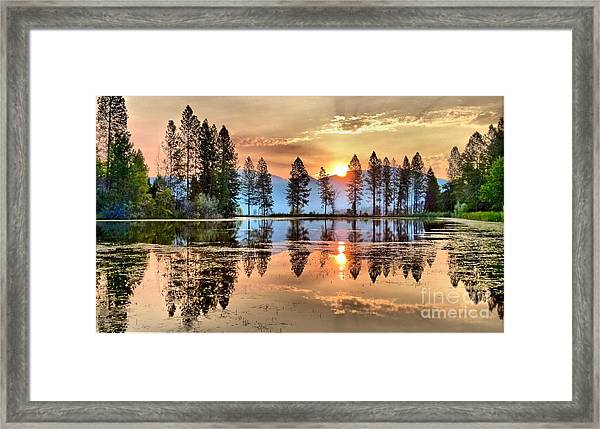 A Hint Of Fall Framed Print