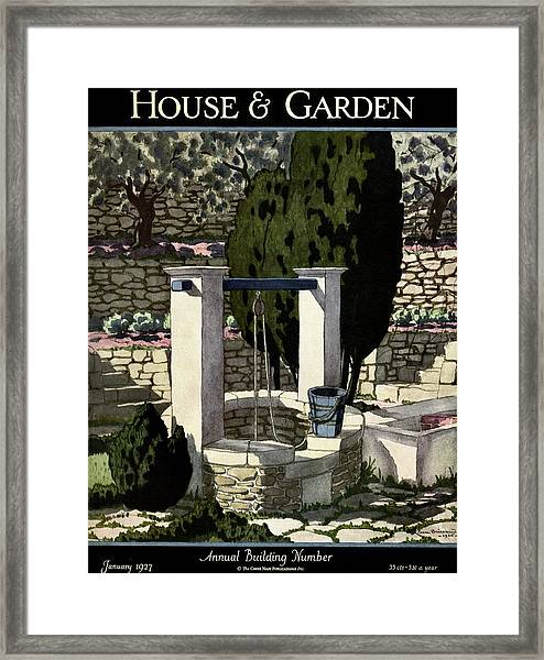 A House And Garden Cover Of A Well Framed Print