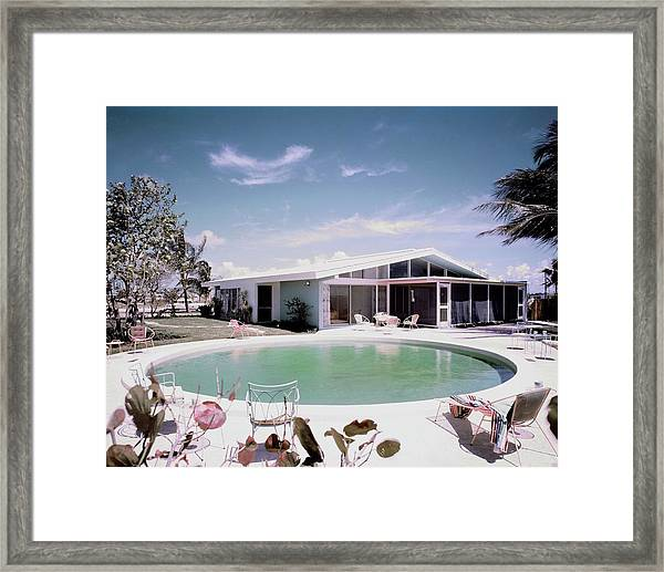 A House In Miami Framed Print
