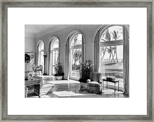A House In Palm Beach Framed Print