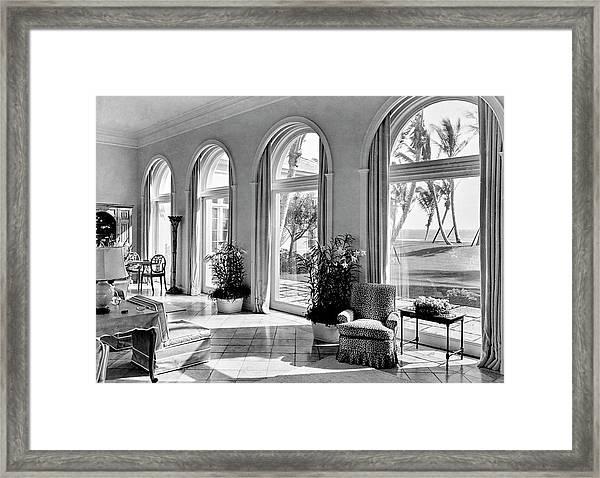 A House In Palm Beach Framed Print by Samuel H. Gottscho