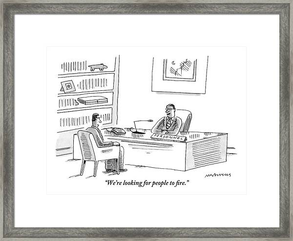 A Human Resources Office Worker Speaks To An Framed Print