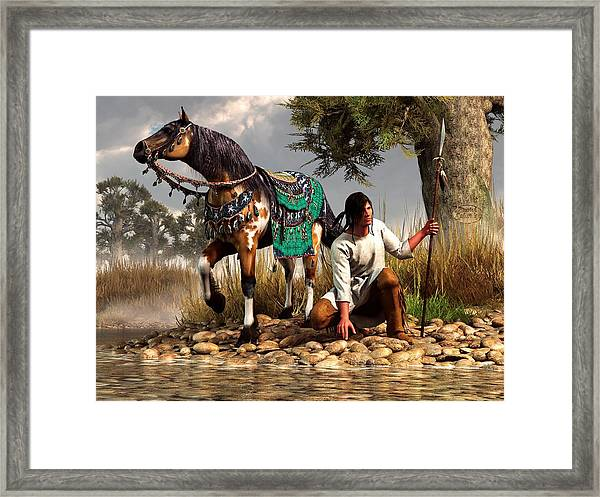 A Hunter And His Horse Framed Print