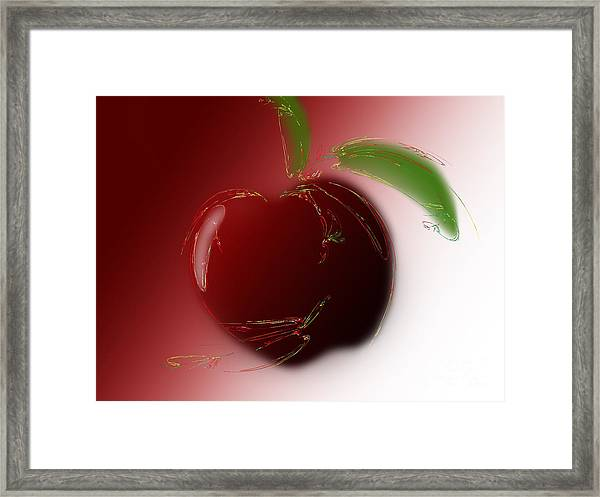 A Is For Apple 4 Framed Print